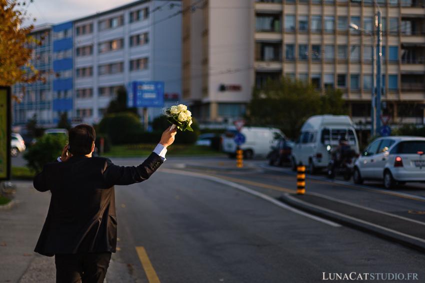 photographe mariage suisse bouquet mariee