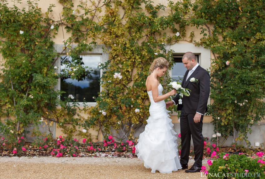 photographe mariage first look aux portes des iris vuillerens