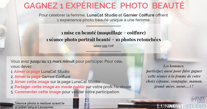 concours séance photo portrait beauté