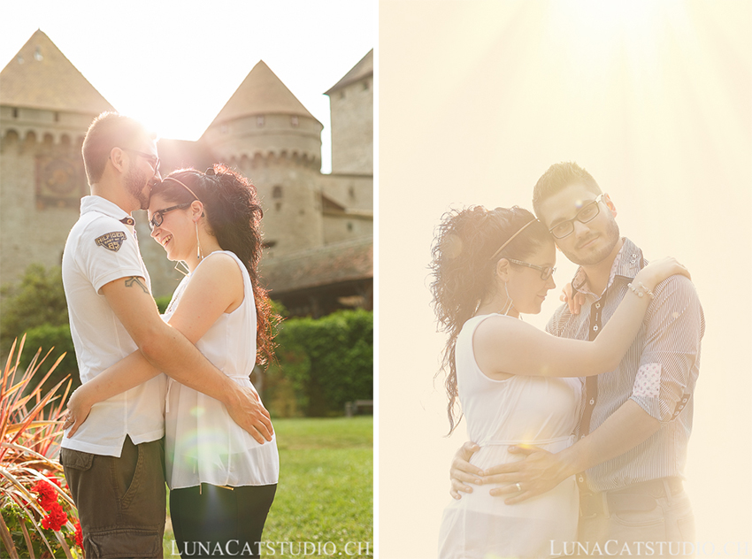engagement session chillon castle