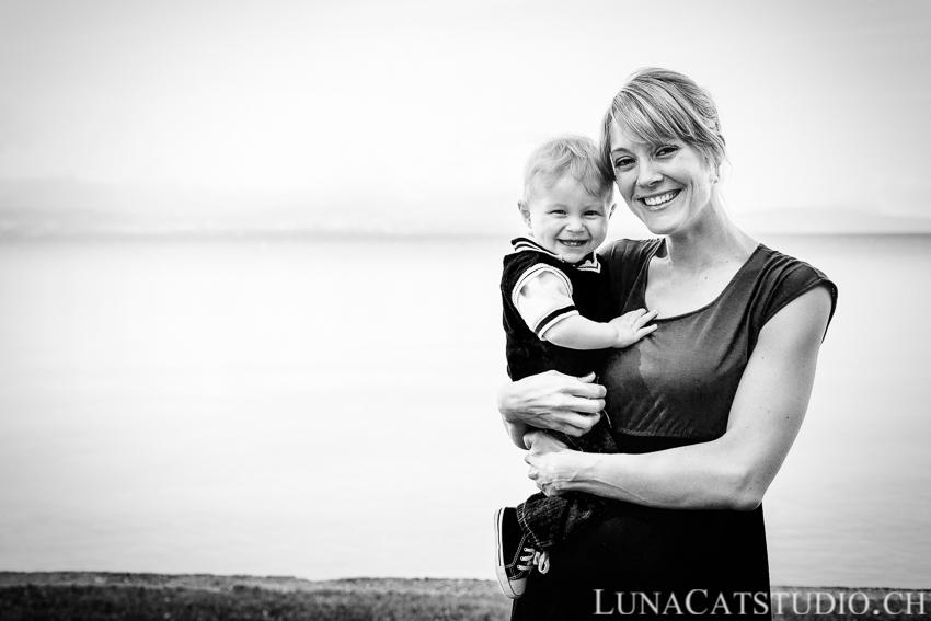 family photo lake lausanne vaud geneva