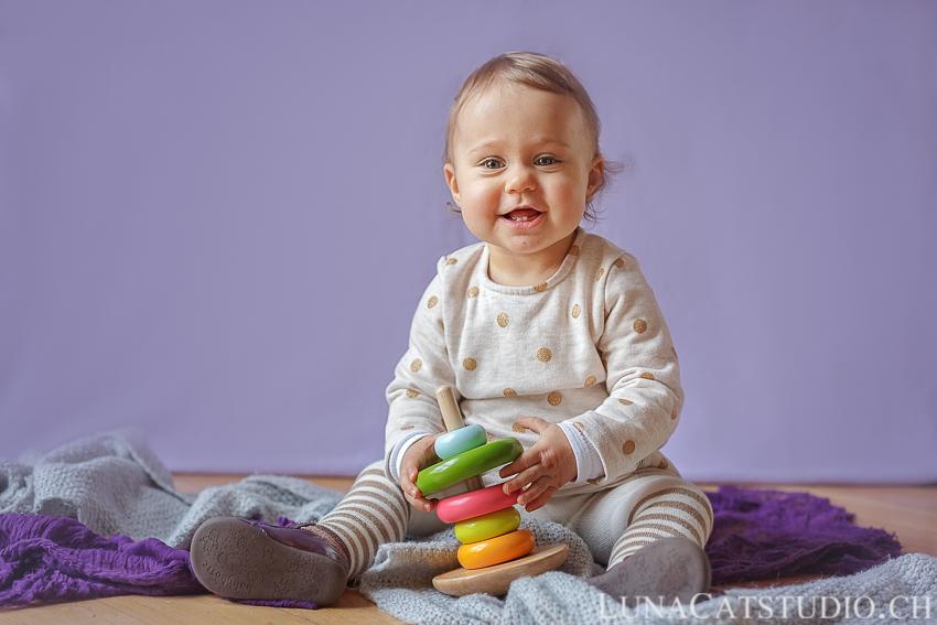baby photo 1 year old Iris