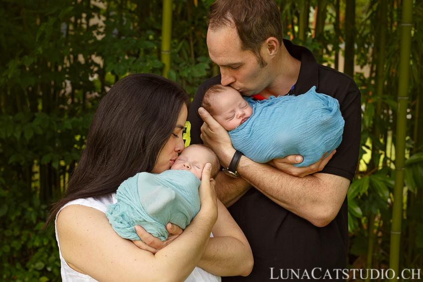 jumeaux bébés famille